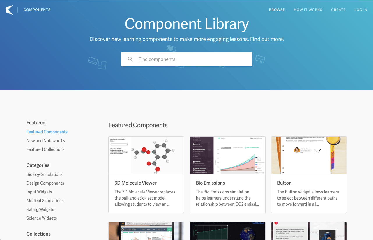 Smart Sparrow's Learning Component Library