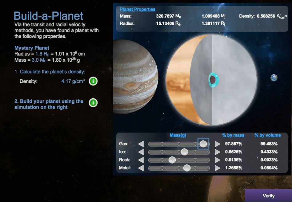 The Build-a-Planet simulation for students