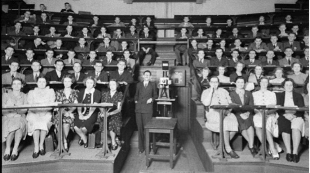 An image of an old lecture hall