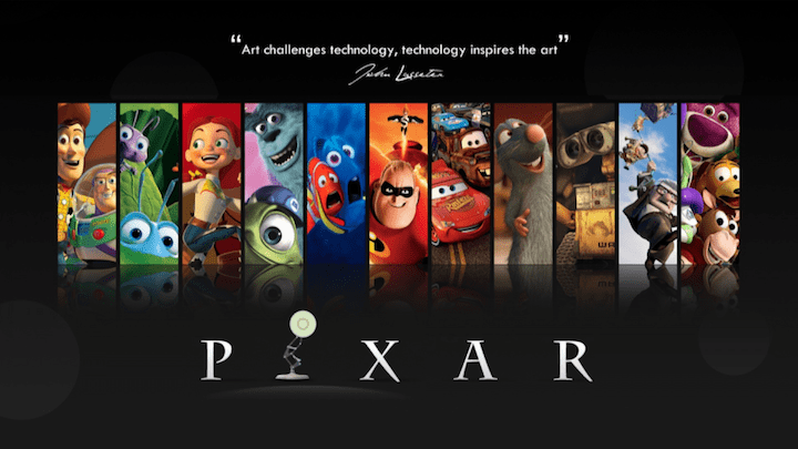 "Pixar ""Art challenges technology, technology inspires art."""